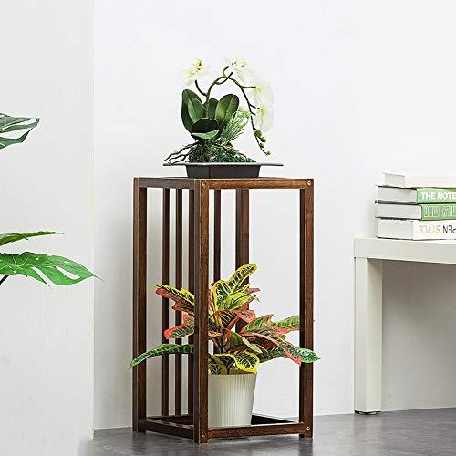 LLYU Pflanzenständer aus Holz – Bodenstehendes Blumenregal, Aufbewahrungsrahmen, Montagepflanzenregal, mehrstöckige Blumenregale, für Wohnzimmer, Innen- und Außenbereich, Balkon