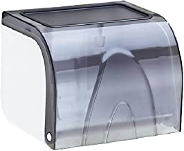 Toiletrolhouder Waterdicht Met Plank, Premium Toiletpapierrolhouder Voor Badkamer En Keuken-grijs