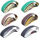 Sackorange 24 PCS 3/4 x 12 Inch Knife Sharpener Sanding Belts,Coarse P80 P120 Grit/Medium P240 P400 Grit/Fine P1000 P1200 Grit - Compatible with Work Sharp Knife & Tool Sharpener