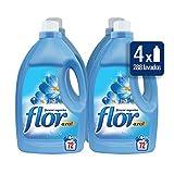 Flor Suavizante Regular Azul 72 dosis [Pack de 4, Total 248 dosis]