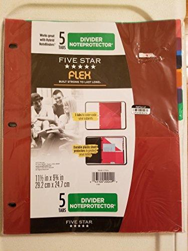 Five Star 5 Tab Flex NoteProtector Binder Insert (Color Will Vary)