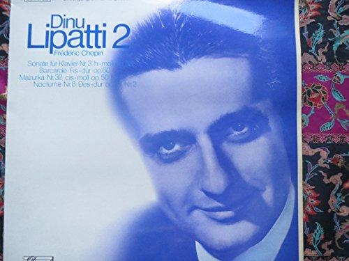 frederic Chopin Sonate f?r Klavier nr. 3, Barcarole, Mazurka, Nocturne. Lipatti 2. Vinyl LP.