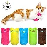 Katzen Kauen Kissen Spielzeug, 5 Stück Niedlich Plüsch Daumen Geformt Katzenspielzeug Katzenminze Set, zum Kuscheln und Spielen, Natürliches Katzenspielzeug für alle Katzen und Kitten geeignet