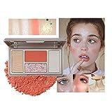 Mimore Professional Blush Shimmer Powder, Matte Shimmer Blush & Highlighter & Glitter Metallic, Paleta de belleza cosmética, Rubor en polvo fácil de mezclar(02)