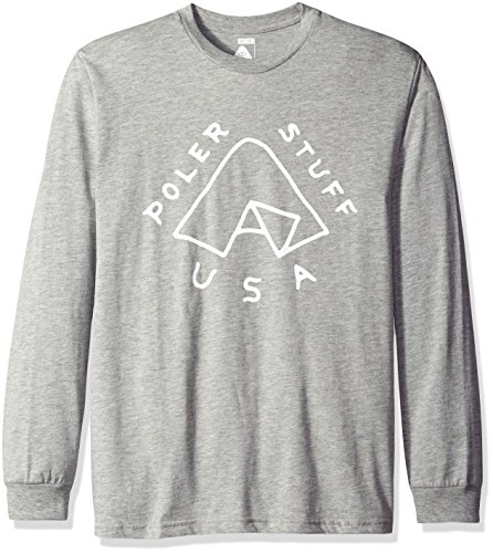 Poler mens631159Tent Long Sleeve T-Shirt Long_Sleeve T-Shirt - Gray - S