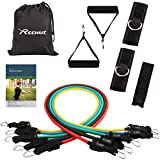 Reehut Resistance Band Set (12 PCS), Exercise Bands with Handles, Ankle Strap, Door