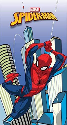 S.P - Toalla de playa o toalla de baño Spiderman Marvel