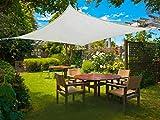 Sunnylaxx Vela de Sombra Rectangular 2.5 x 4 Metros, toldo Resistente y Transpirable, para Exteriores, jardín, Color Crema