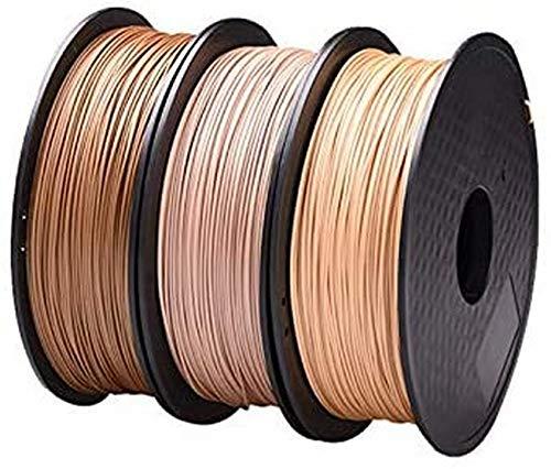 LXLH Filament en Bois 1.75mm pour imprimante 3D Effet en Bois matériel d'impression 3D Plastique 3D matériel consommable comme pièces d'imprimante 3D en Soie