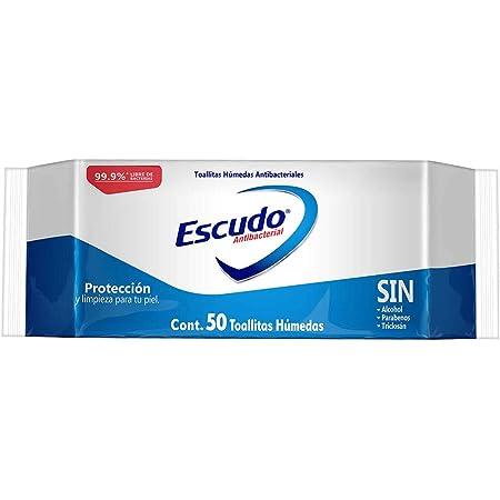 Escudo Antibacterial Toallitas Húmedas, 1 Paquete con 50 Toallitas, Protección y Limpieza para tu Piel