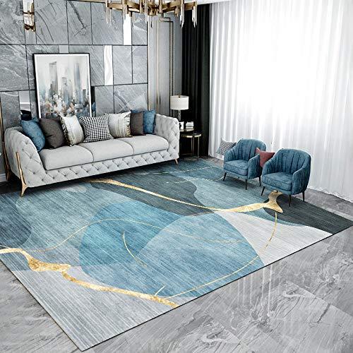 YLBH Alfombras para sala de estar, cojines nórdicos modernos minimalistas para sofá y mesa de café, alfombras ligeras de lujo, alfombras grandes para el hogar, 200 x 300 cm