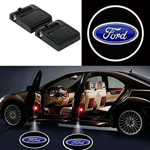 JDclubs 2PCS Universal Wireless Car Projection LED Projector Door Shadow Light Welcome Light Laser Emblem Logo Lamps (fit ford)