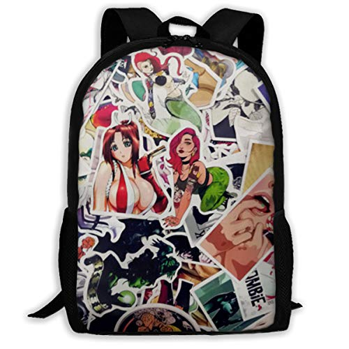 H.X Shop Sexy Hot Girl Anime Graffiti Fashion Adult Backpack College Schoolbag Travel Backpack Sports Backpacks For Man Women Bags Outdoor Backpacks