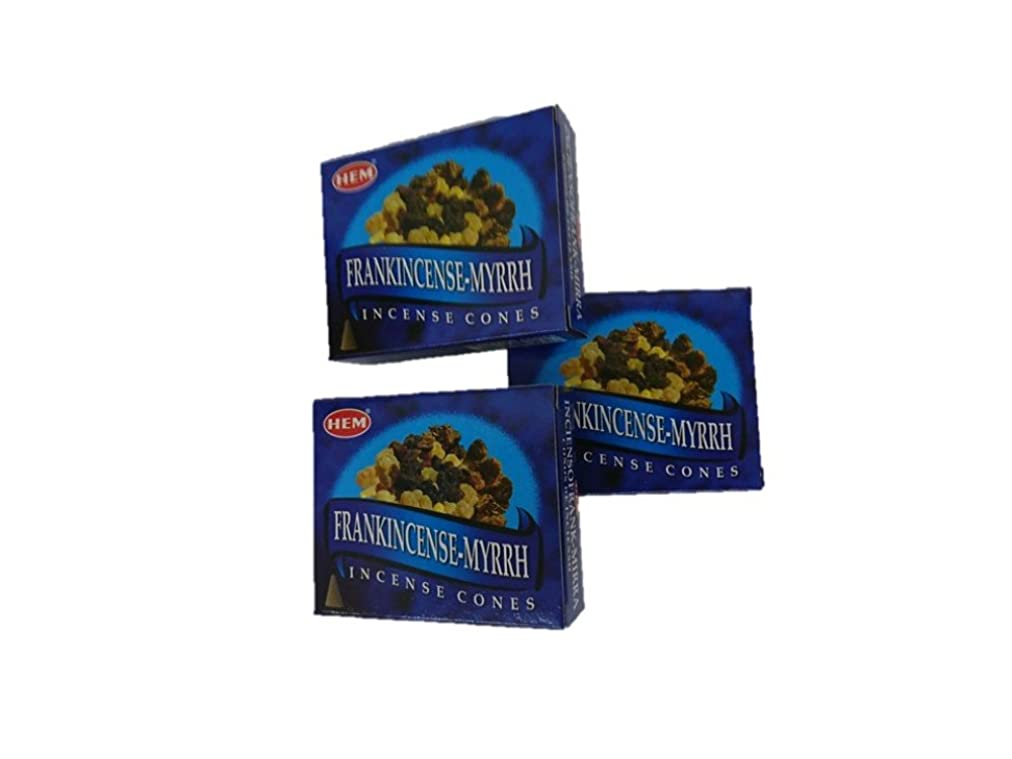 ソフィージャングル亜熱帯HEM(ヘム)お香コーン フランキンセンスミルラ コーン 3個セット