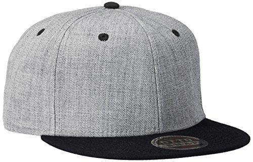 OTTO CAP/Heather Wool Blend Flat Visor Snapback Caps(オットーキャップ/ヘザーウールブレンドフラットバイザースナップバックキャップ) FREE(頭周り57.5cm-62cm) BH:ブラック/ヘザーグレー
