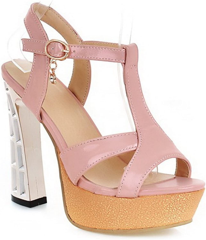 1TO9 Ladies Studded Rhinestones Heel Open-Toe Pink Soft Material Sandals - 4 B(M) US