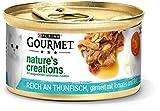 PURINA Gourmet Nature's Creation - Comida húmeda para Gatos en Jalea Natural, atún, 12 Unidades (12 x 85 g)