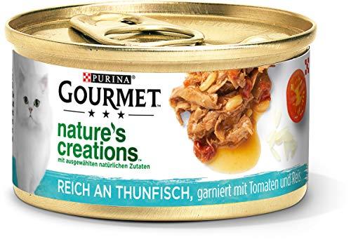 PURINA GOURMET Nature's Creation Lot de 12 boîtes de Nourriture pour Chat en gelée Naturelle au Thon 12 x 85 g