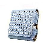 Gemorisy füriQos 3/3 Duo espacio para Holder Heets Pocket-Charger Cepillo HeatFilter PU Cuero Pitillera para I-Q-O-S 3.0 con cubierta magnética
