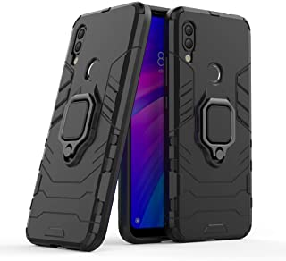 FanTing Case for LG W30 Pro, Rugged and shockproof,with mobile phone holder, Cover for LG W30 Pro-Black