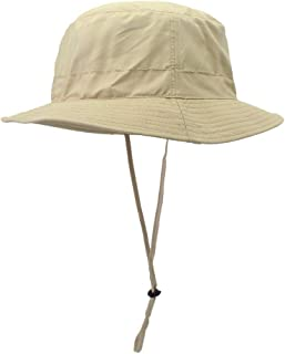 ABOOFAN Outdoor UV Protection Bucket Hat with Cord Summer Fisherman Hats with Wide Casual Sunhat for Men Women (Khaki)
