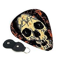 Slayer Skull スレイヤー 頭蓋骨 ギターピック ウクレレピック 6枚セット エレキギター プレクトラム 弦楽器 ティアドロップ 快適な手触り ハード Guitar Picks 3種類の厚み0.96mm/ 0.71mm/ 0.46mm