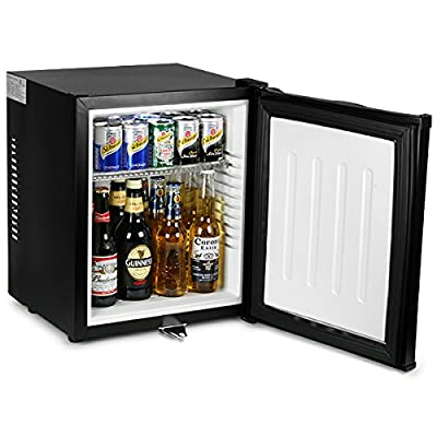 ChillQuiet Silent Mini Fridge 24ltr Black - Completely Quiet Mini Bar, Ideal for Hotels and B&Bs