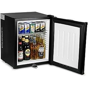 bar@drinkstuff ChillQuiet Silent Mini Fridge 24ltr Black - Completely Quiet Mini Bar, Ideal for Hotels and B&Bs