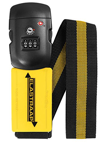ProudGuy TSA Luggage Straps for Suitcases Non-Slip Extends 114-204 cm Yellow