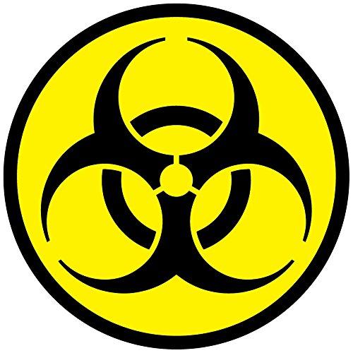 Pegatinas de seguridad con vinilo autoadhesivo del símbolo tóxico de advertencia de Biohazard