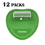 CROING Set mit 12 Päckchen Urinalsieb, Urinaltorte, Fußball-Style, Spritzschutz, hält bis zu 5000 Spülungen - Ideal für Badezimmer, Toiletten, Büros, Restaurants und Schulen