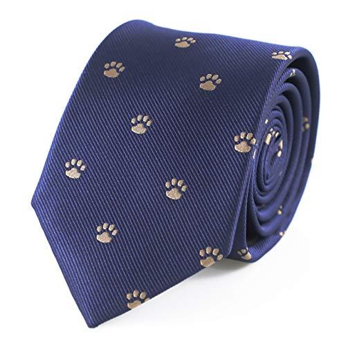 MENDEPOT Puppy Dog Paw Print Pattern Necktie With Gift Box Dog Foot Print Tie