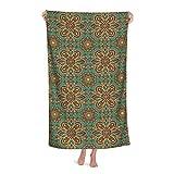 Muster mit Mandala-Stil, islamisch, mittelalterlich, schnell trocknend, Strandtücher, übergroße...
