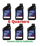 ACDelco 109243 Dexron-VI Full Synthetic Automatic Transmission Fluid 1 Quart (6 Pack)