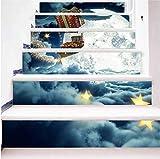 Emily SLT004 - Adesivo Decorativo a Forma di Pupazzo di Neve 3D per Scale, Impermeabile, Decorativo, Colore: Grigio