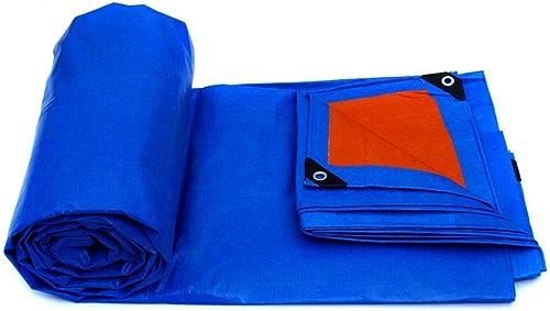 LTM Couvertures imperméables de Feuille de Sol de Couverture de Toit de bache imperméable Bleue pour Le Camping, pêche, épaisseur de Jardinage 0.32mm, Multi-Taille