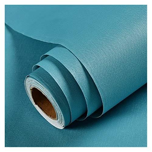 WHYBH HYCSP Reine Farbe grau Tapete selbstklebend einfache Warmer Schlafsaal Schlafzimmerdekoration Garderobe Schreibtisch wasserdicht Aufkleber (Color : Lake Blue, Size : 3mx60cm)