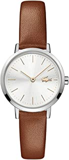 Lacoste Women's White Dial Brown Leather Watch - 2001118