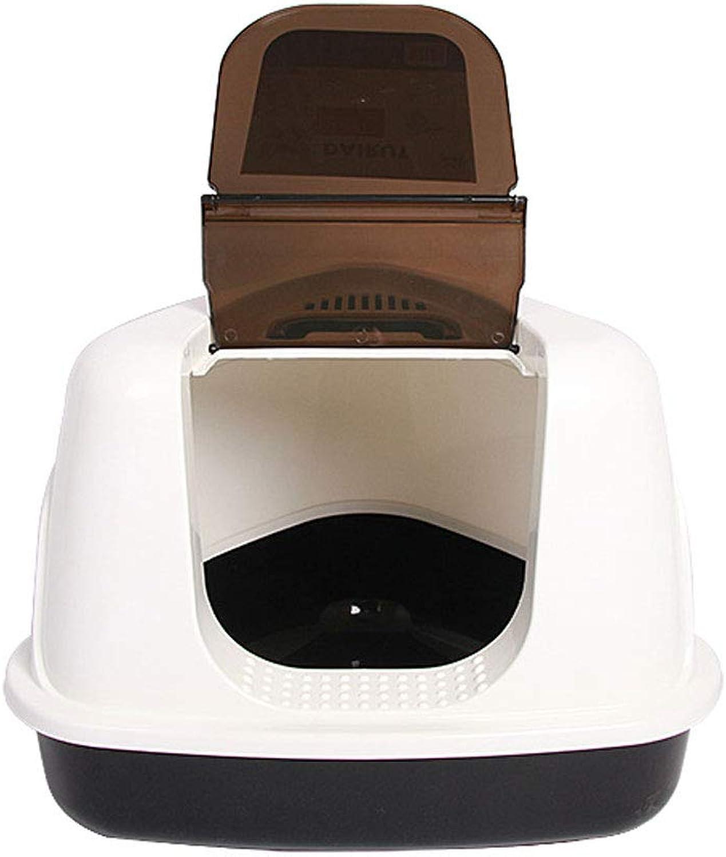 Wybxfat Cat Litter Box, High Rim Flip, Cat Litter T , Prevenire fuori Splashing Deodoriser Cat Toilet, Easy to Clean Large Pan