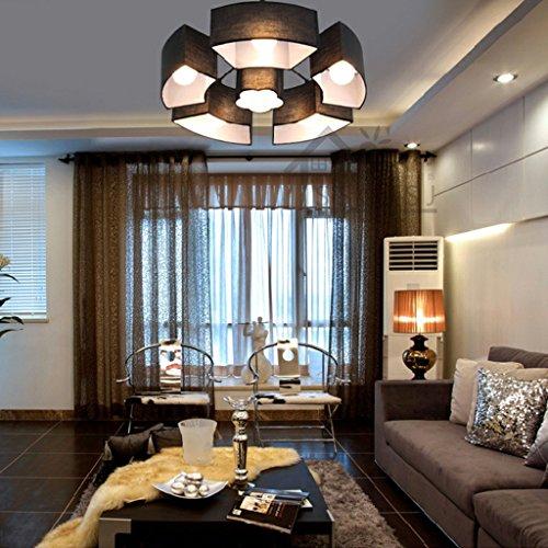 Ceiling Led-plafondlamp, lampenkap, stof, modern, cilinder, linnen, schaduw, ijzer, metaal, kroonluchter, downlight, acryl