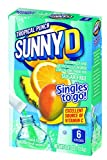 SunnyD Singles To Go Water Drink Mix - Strawberry Orange Powder Sticks (12 Boxes with 6 Packets Each - 72 Total Servings)