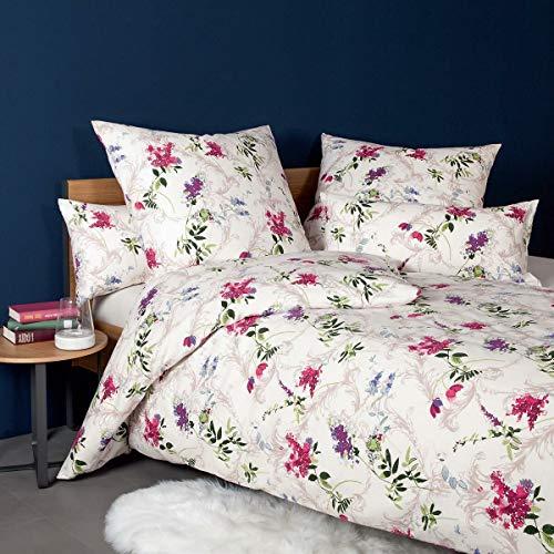Janine Design Edelflanell Bettwäsche Chinchilla S 78039-01 Fuchsia Flieder 1 Bettbezug 155 x 200 cm + 1 Kissenbezug 80 x 80 cm
