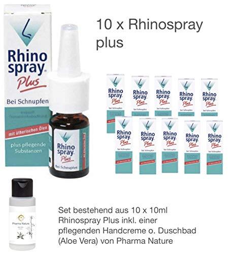 Rhinospray Plus Rhino Spray 10 x 10 ml Sparset inkl. einer hochwertigen Handcreme o. Duschbad von Pharma Nature