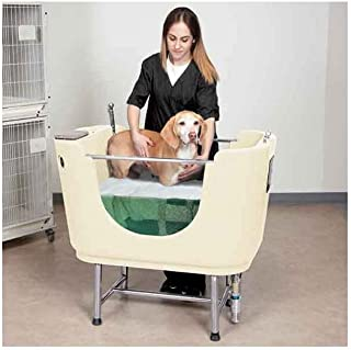 """Master Equipment Polypro Dog Grooming Spa Tub, 42"""", White"""