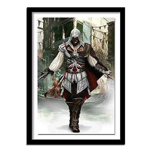 FFFZDCKAY 5d DIY Diamantmalerei Kreuzstich-Kits Volldiamant-Stickerei 5D Diamant-Handarbeit Assassin Creed Wohnkultur