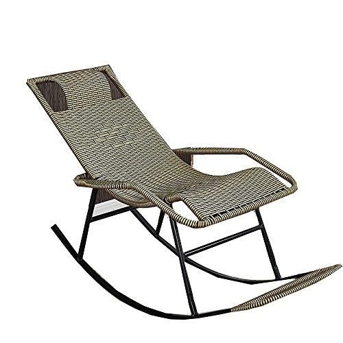 XXHDEE schommelstoel stok voor volwassenen Siesta lounge woonkamer balkon stoel stoel ouderen vrije tijd schommelstoel lounge stoel