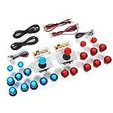 Vikye Arcade Piezas de Bricolaje Botones pulsadores iluminados con LED...