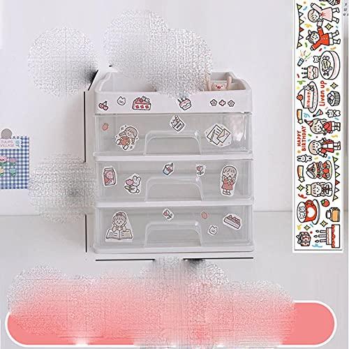 W&G Ins Caja de almacenamiento de escritorio Cajón Estante Caja de almacenamiento Contenedor Soporte Organizador Papelería cosmética Estante de escritorio Kawaii 2021-Caja de almacenamiento 4