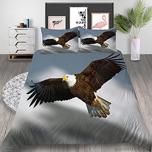 Dekbedovertrek Single eagle Soft Easy Care Dekbedovertrek Eenpersoonsbed (53×79 inch) met ritssluiting Hypoallergeen…