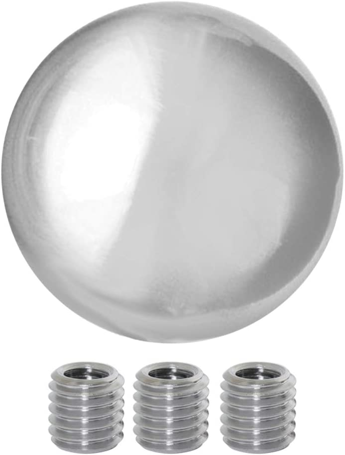 GG Grand General 93495 2-1//4 Inches Chrome Aluminum Gear Shift Knob with Adaptor Kit